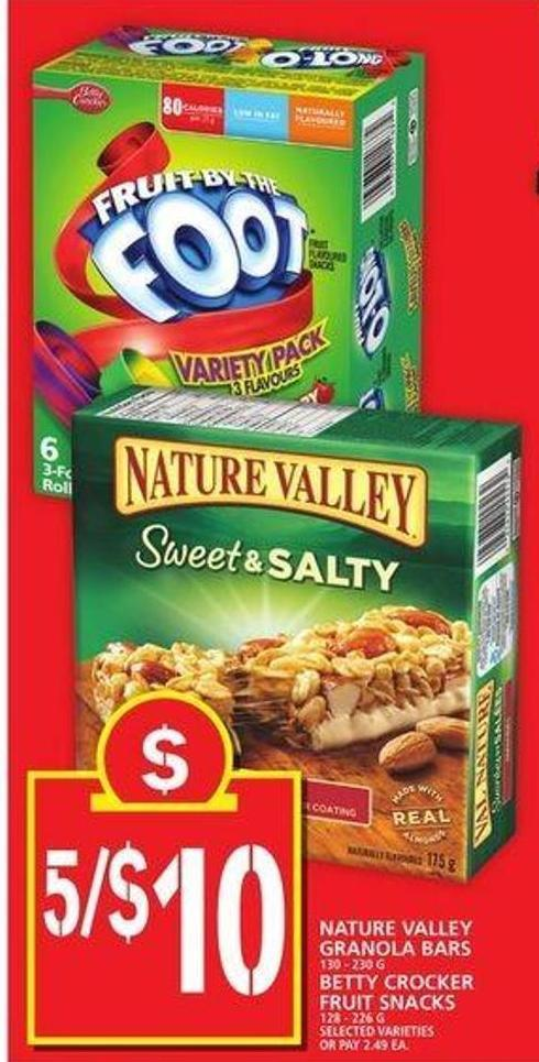 Nature Valley Granola Bars Or Betty Crocker Fruit Snacks