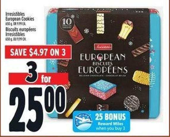Irresistibles European Cookies
