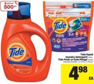 Tide Liquid Laundry Detergent - 1.09 L - Tide PODS Or Gain Flings! - 12-16's
