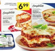 Compliments Lasagna - Macaroni & Cheese or Meat Pies 660 G-1 Kg