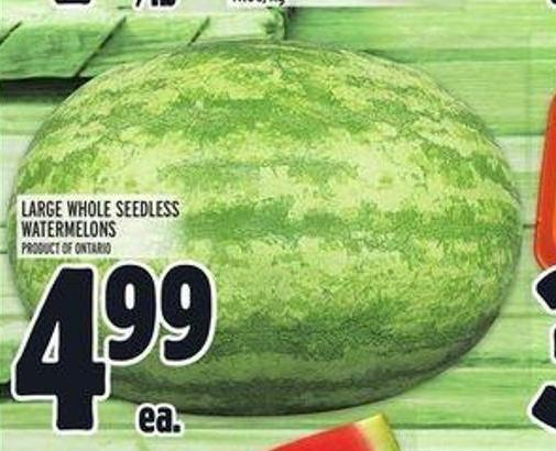 Large Whole Seedless Watermelons