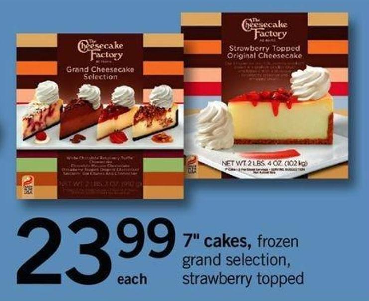 7in Cakes - Frozen Grand Selection - Strawberry Topped