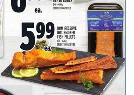 Dom Reserve Hot Smoked Fish Fillets
