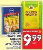 Pillsbury Chakki Or Golden Temple Atta Flour 9 - 9.07 Kg