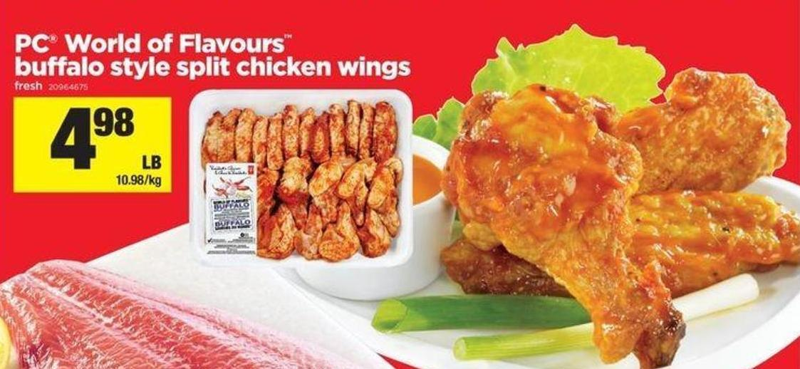 PC World Of Flavours Buffalo Style Split Chicken Wings