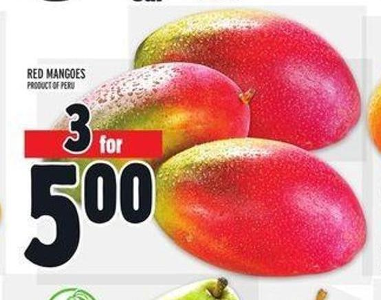 Red Mangoes Product of Peru