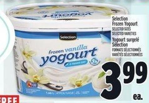 Selection Frozen Yogourt