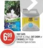 Tidy Cats Litter (6.35kg) - Cat Chow or Friskies Cat Food