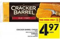 Cracker Barrel Cheese Or Shreds