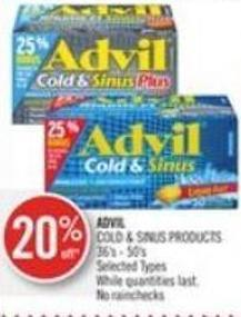 Advil Cold & Sinus Products