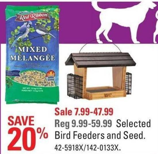 Selected Bird Feeders and Seed