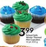 School Safe Winter Themed Mini Cupcakes