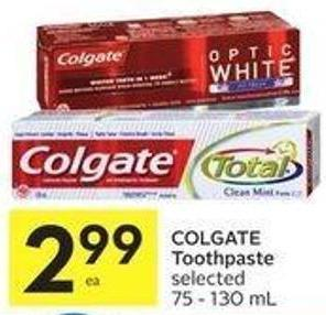 Colgate Toothpaste Selected 75 - 130 mL