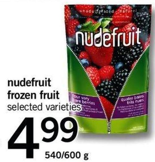 Nudefruit Frozen Fruit - 540/600 G