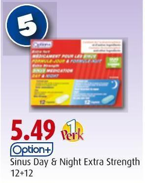 Option+  Sinus Day & Night Extra Strength  12+12