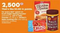 Kraft Magic Baking Powder - 225/450 G - Jell-o Jelly Powder - 10-85 G Or Shake'n Bake Coating Mix - 140-163 G