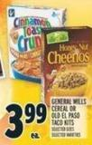 General Mills Cereal Or Old El Paso Taco Kits