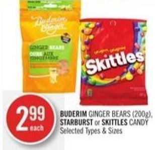 Buderim Ginger Bears (200g) - Starburst or Skittles Candy