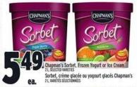 Chapman's Sorbet - Frozen Yogurt Or Ice Cream 2 L