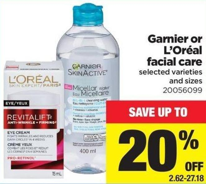 Garnier Or L'oréal Facial Care