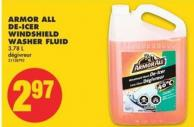 Armor All De-icer Windshield Washer Fluid - 3.78 L