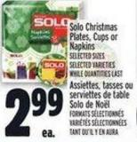 Solo Christmas Plates - Cups Or Napkins