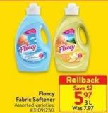 Fleecy Fabric Softener 3 L