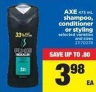 Axe 473 Ml Shampoo - Conditioner Or Styling