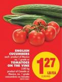 English Cucumbers or Tomatoes On The Vine - 2.80 Kg