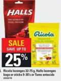 Ricola Lozenges - 32-75 G - Halls Lozenges Bags Or Sticks - 9-30's Or Tums Antacids