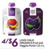Love Child Organics Fruit and Veggies Purée