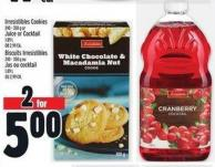 Irresistibles Cookies 240 - 350 G Or Juice Or Cocktail 1.89 L