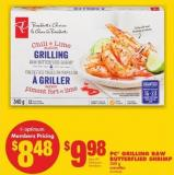 PC Grilling Raw Butterflied Shrimp - 340 g