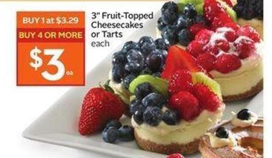 3'' Fruit-topped Cheesecakes or Tarts