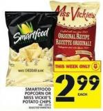 Smartfood Popcorn Or Miss Vickie's Potato Chips