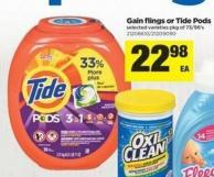 Gain Flings Or Tide PODS - Pkg Of 73/96's