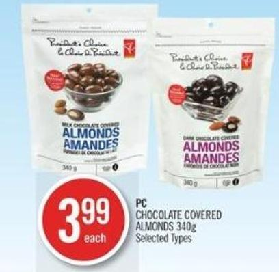 PC Chocolate Covered Almonds 340g