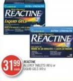 Reactine Allergy Tablets (48's) or Liquid Gels (40's)