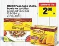 Old El Paso Taco Shells - Bowls Or Tortillas - 125-334 g