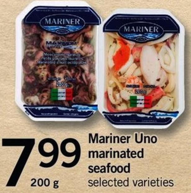 Mariner Uno Marinated Seafood - 200 G