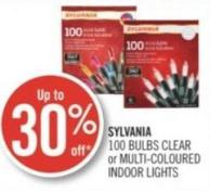 Sylvania 100 Bulbs Clear or Multi-coloured Indoor Lights