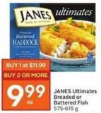 Janes Ultimates Breaded or Battered Fish