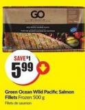 Green Ocean Wild Pacific Salmon Fillets Frozen 500 g
