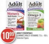 Adult Essentials Gummies Multi-vitamins 75's-90's