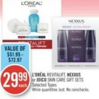 L'oréal Revitalift - Nexxus or Joico Skin Care Gift Sets