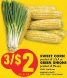 Sweet Corn or Green Onions