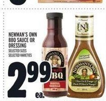 Newman's Own Bbq Sauce Or Dressing