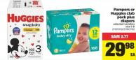 Pampers Or Huggies Club Pack Plus Diapers - Size 1-6