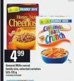 General Mills Cereal Family Size - 525-725 g