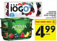 Danone Activia Or Iögo Yogurt
